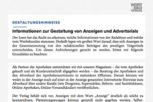 Informationen zur Gestaltung von Anzeigen und Advertorials
